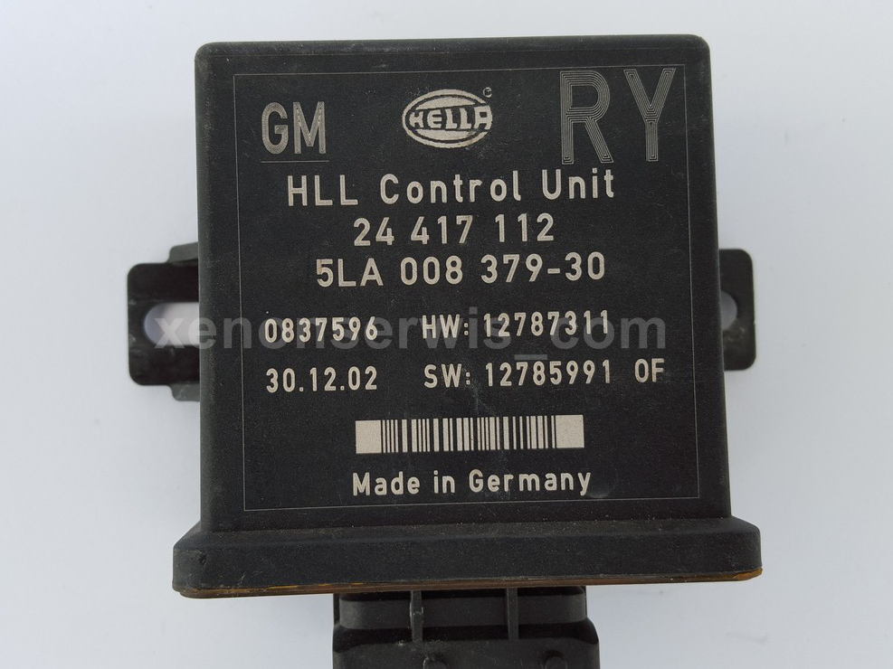 xenon ballast control unit opel vectra signum ahl module 24417112 5la008379 30 ebay. Black Bedroom Furniture Sets. Home Design Ideas